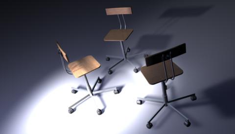 Modélisation mobilier chaise