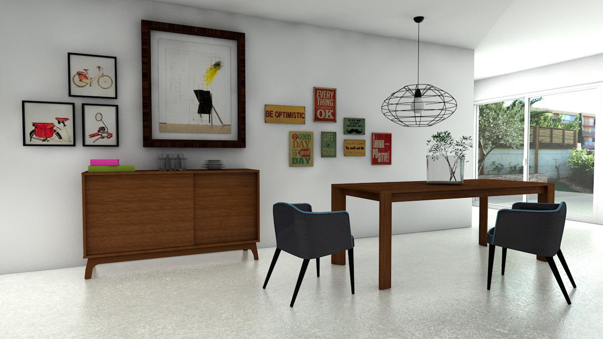 Rendu vue en intérieur mobilier